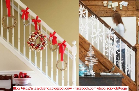 Como decorar escaleras para navidad decoraci n del hogar for Decorar pared escalera