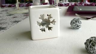 photophore céramique flocon neige