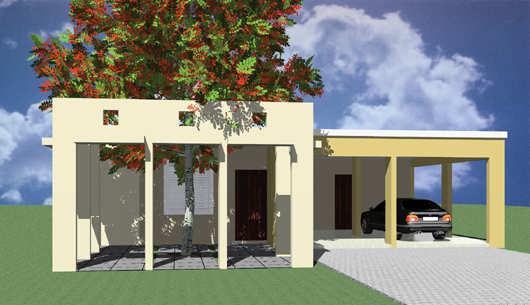 Plano De Casa Moderna Con 3 Dormitorios Desarrollado En Un