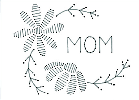 Diy Stitched Mothers Day Card