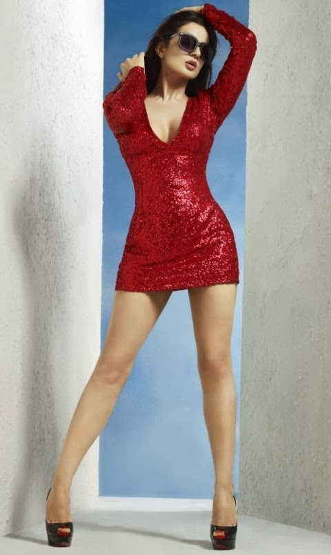 Amisha_Patel-Red-Hot-Dress