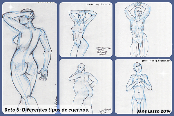 Diferentes tipos de cuerpos femenino
