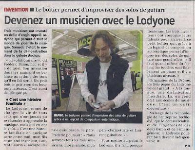 Article LodyOne L'Yonne républicaine mars 2013