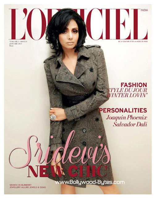 Sridevi Cover Girl L'OFFICIEL India January 2013