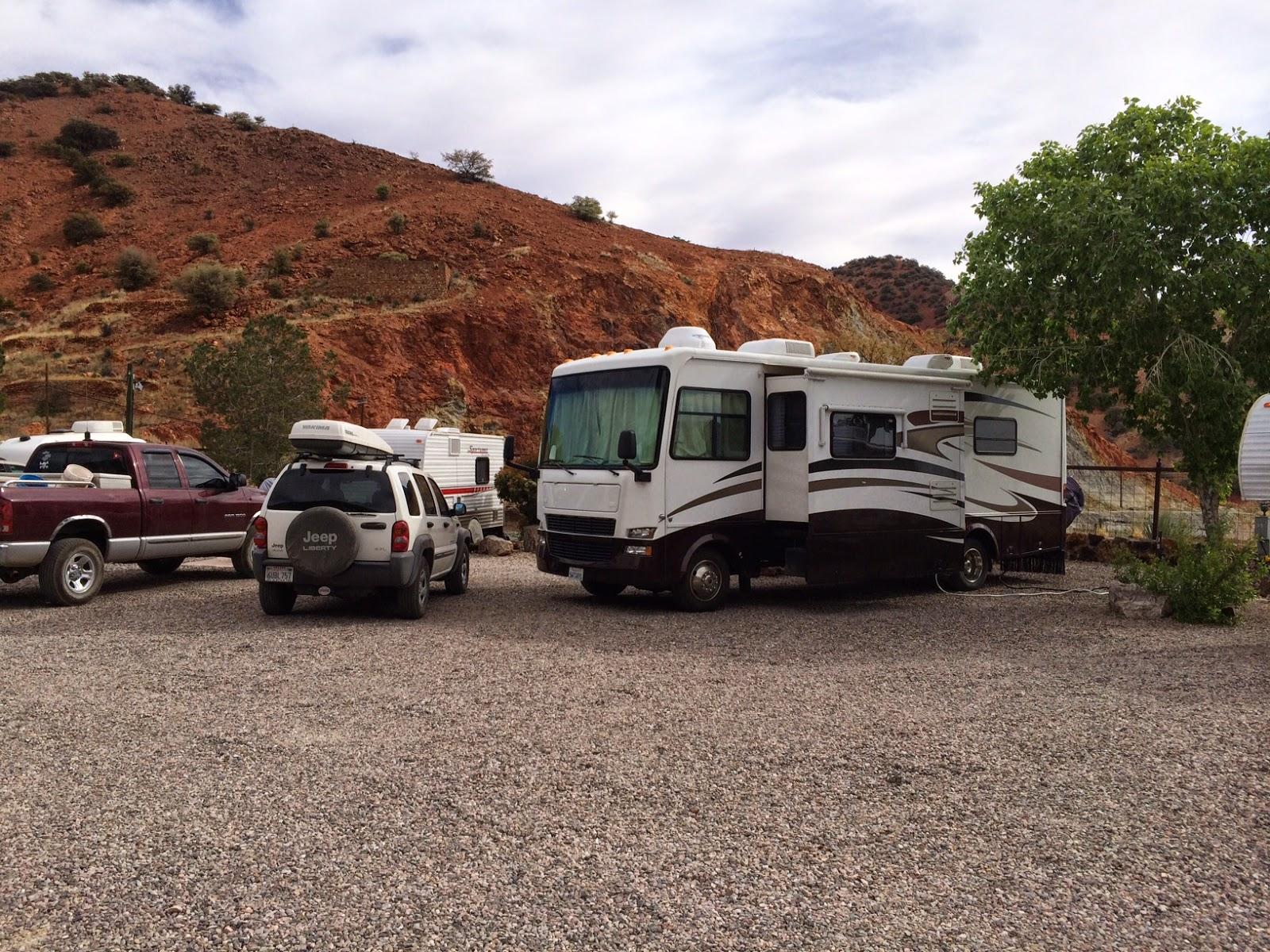 Our campsite at Queen Mine RV park in Bisbee
