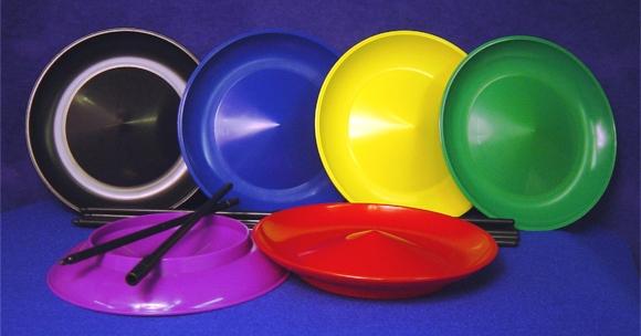 Discos chinos en diferentes colores