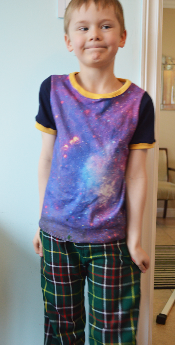 Blue Nebula Tee sewn by Cicely Ingleside #madeforkidsmonth