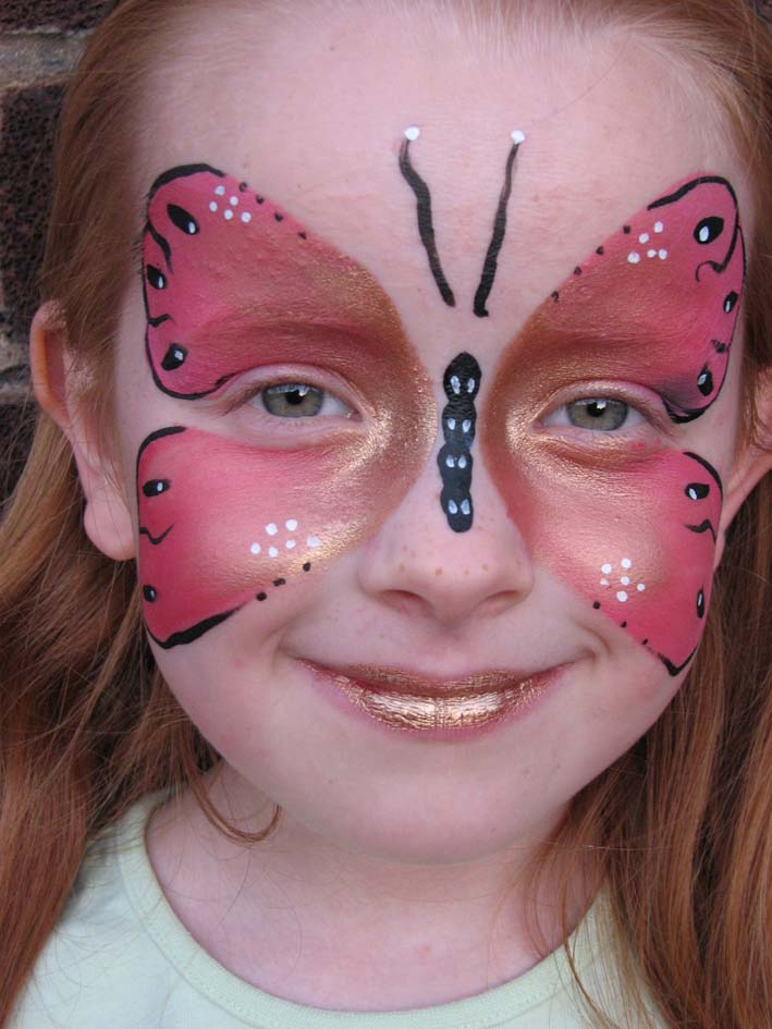 Kreations Face PaintingSimple Butterfly Face Paint
