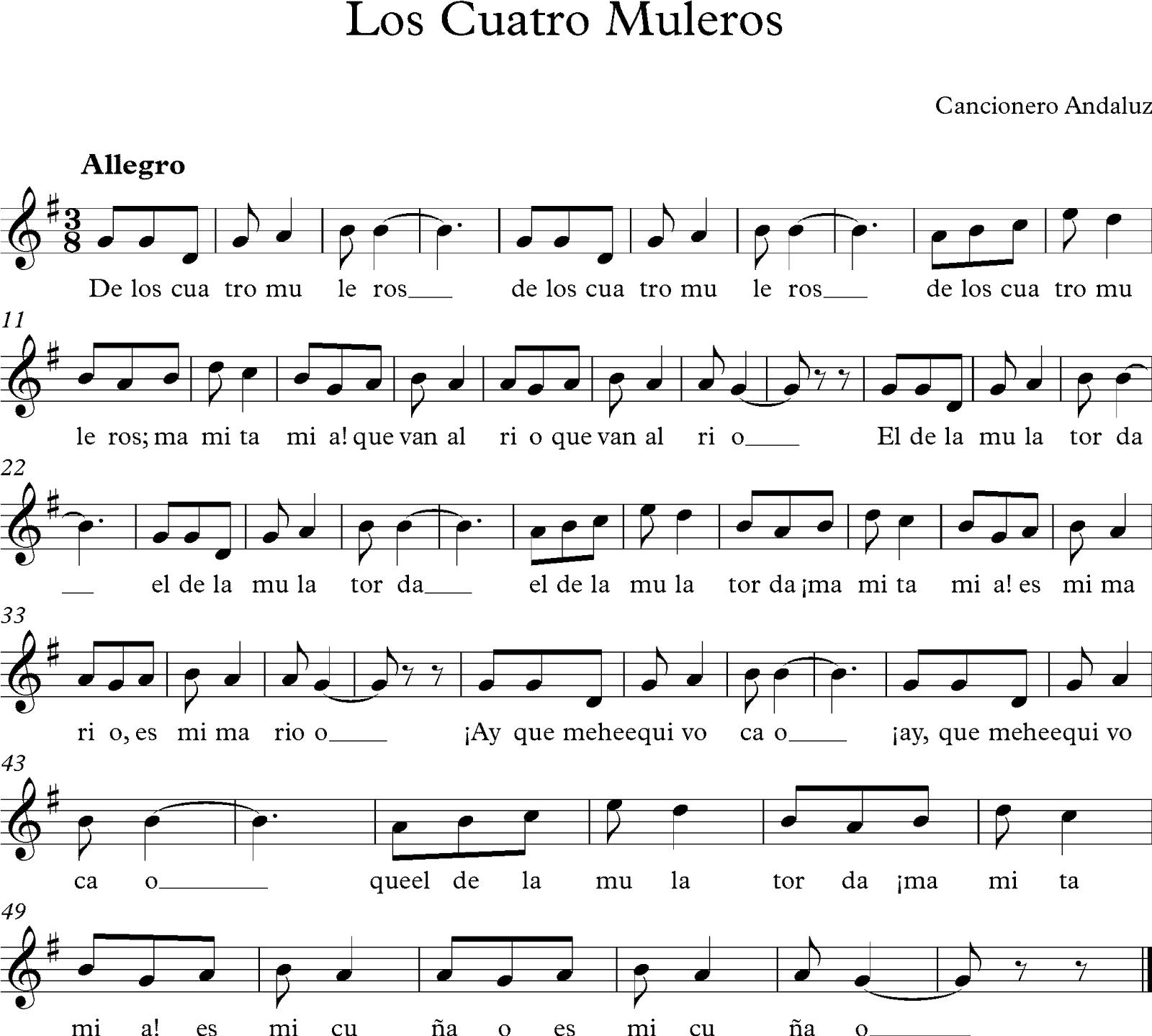 musica para flauta dulce: