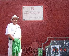 Don Zeferino Nandayapa y Adolfo Guzmán. Chiapa de Corso, Chis.