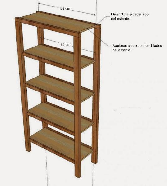 C mo hacer tu propia estanter a taringa - Como hacer estanterias de madera ...