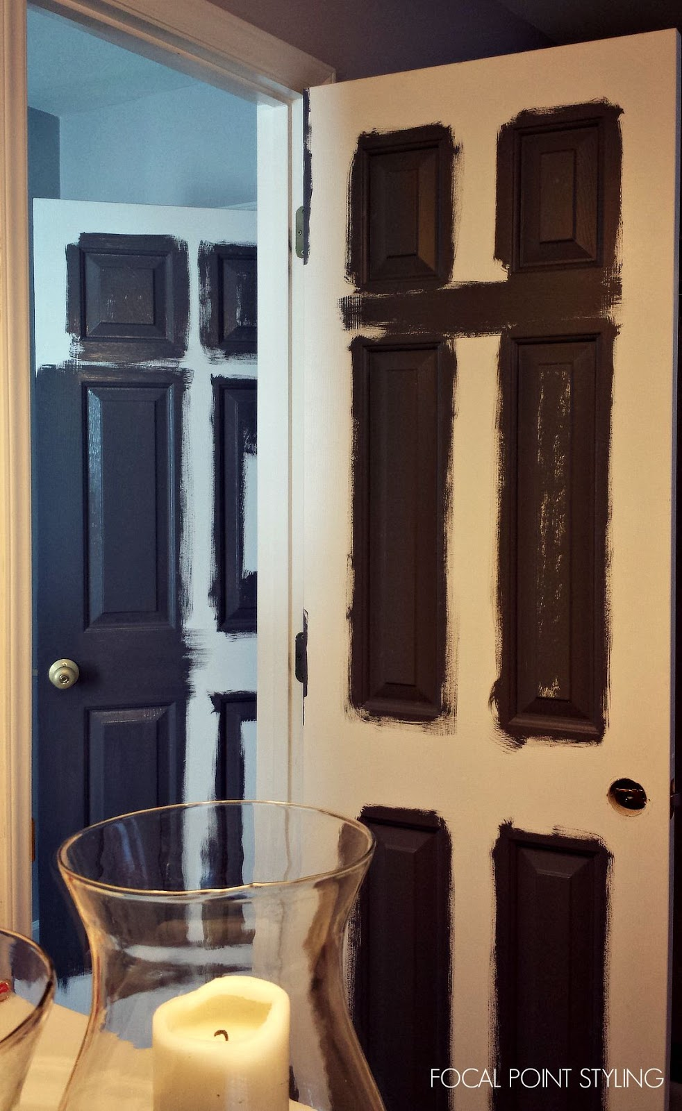FOCAL POINT STYLING: How To Paint Interior Doors Black U0026 Update Brass  Hardware