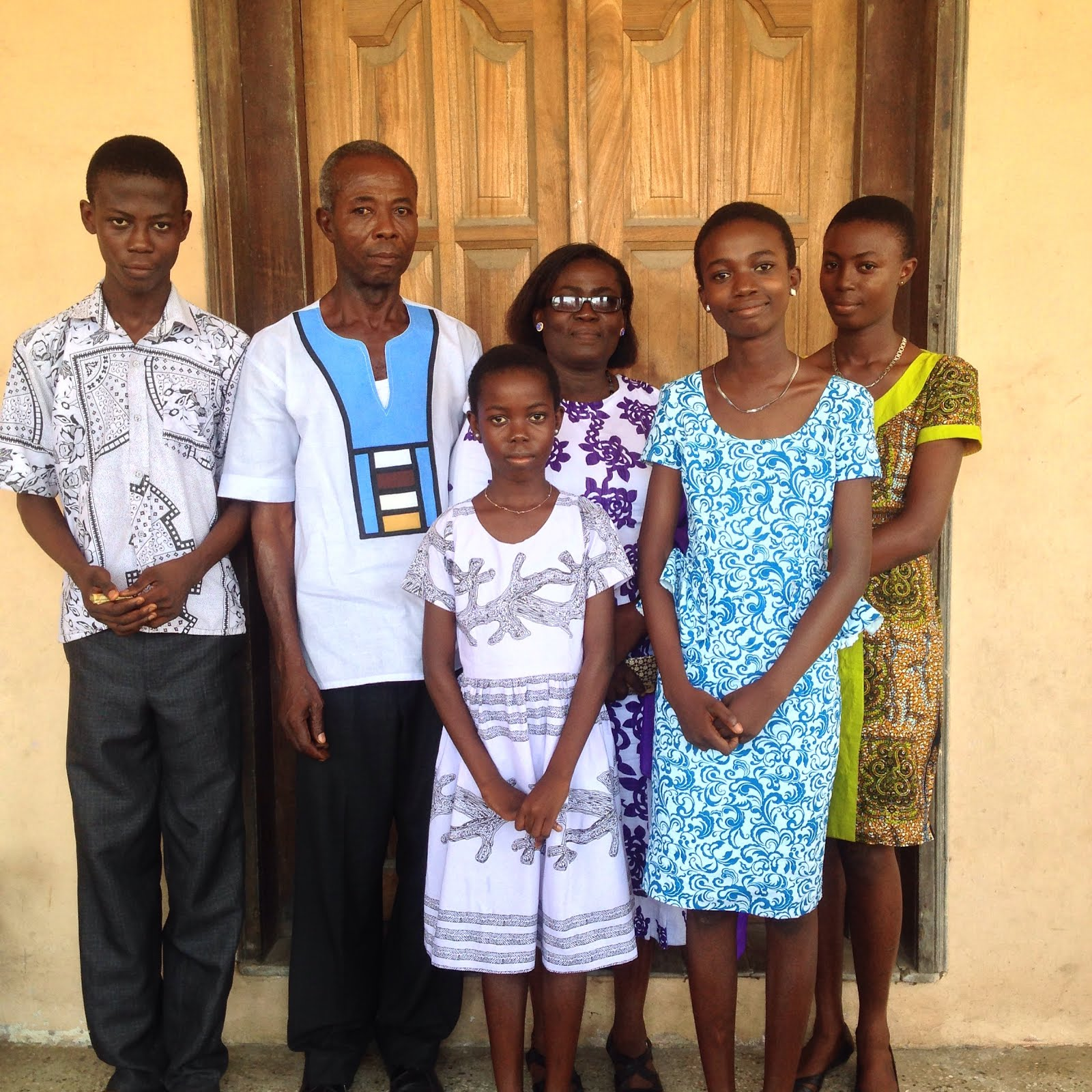 Family from Kojokrom Bible Study