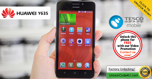 Factory Unlock Code Huawei Y625 from Tesco