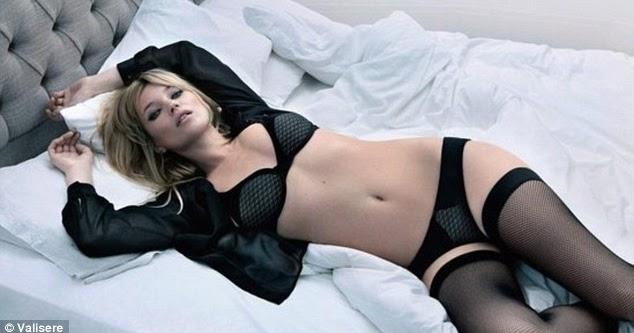 Kate Moss strips for Valisere lingerie Winter 2011 ...