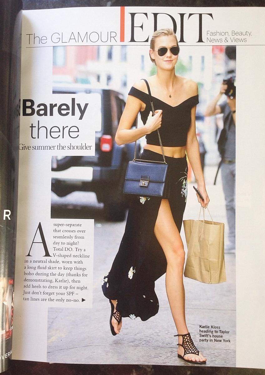 glamour magazine karlie kloss street style