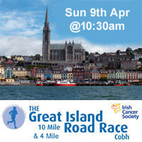 10 mile & 4 mile race in Cobh...Sun 9th Apr 2017