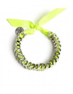 Neon yellow rope style bracelet jewellery