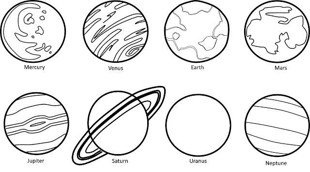 planets clipart black and white - photo #1