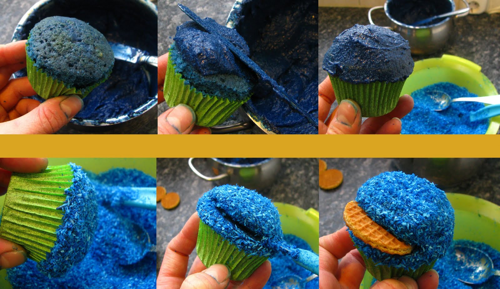 cookie monster cupcake rezept
