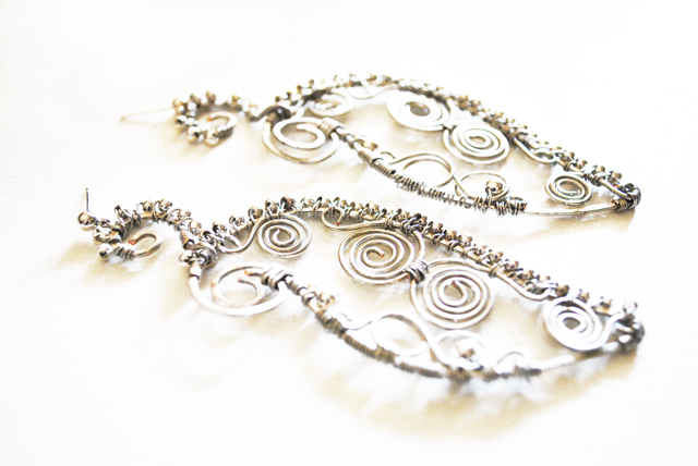 beads and wires orecchini orientali