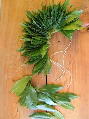 laurel wreath in the kitchen