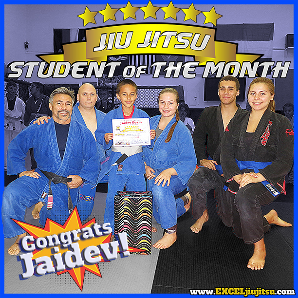 Carlsbad, Vista, Oceanside Kids Jiu Jitsu Student of the month