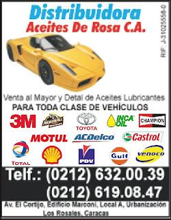 DISTRIBUIDORA ACEITES DE ROSA C.A. en Paginas Amarillas tu guia Comercial