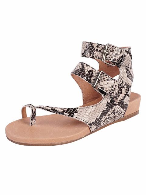 snakeprint thong comfort sandal