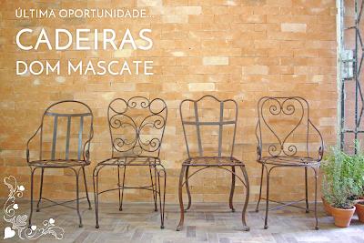 Cadeiras de Ferro Dom Mascate
