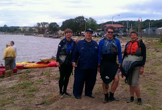 Auxiliarist Bob Daraio and Kayakers