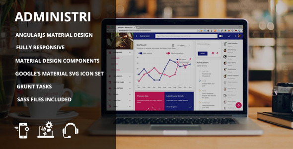 free download Administri - Material Design dashboard