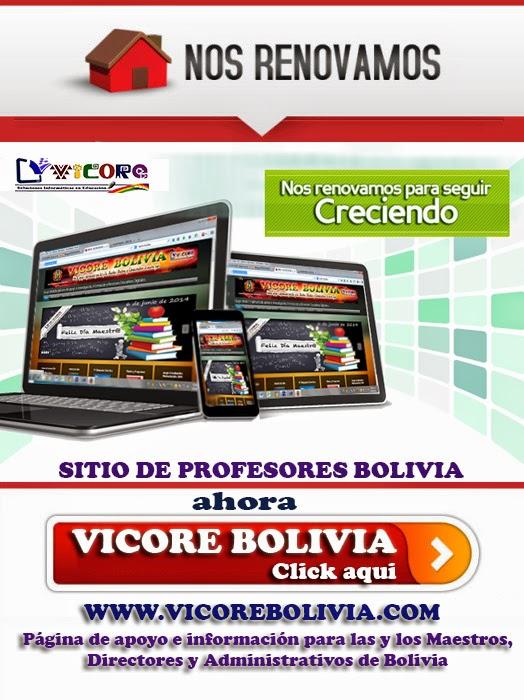 INGRESE A LA NUEVA PÁGINA DE VICORE BOLIVIA