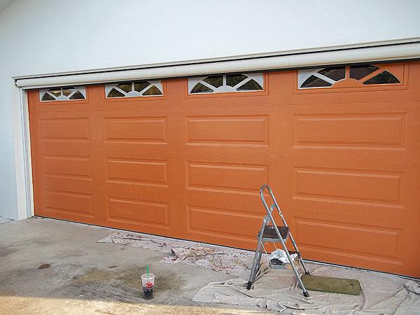 orange base coat color on garage door everything i