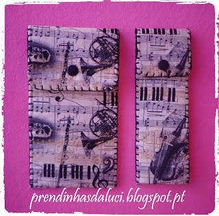 porta-lapis tecido musical