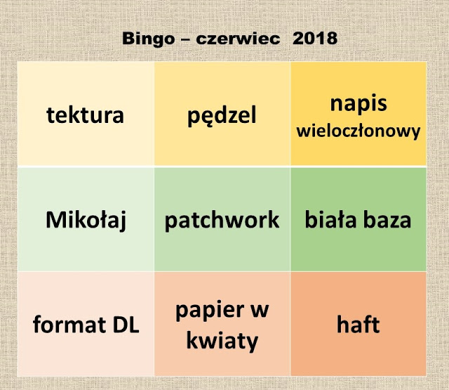 Kartki u Ani - czewiec 2018r
