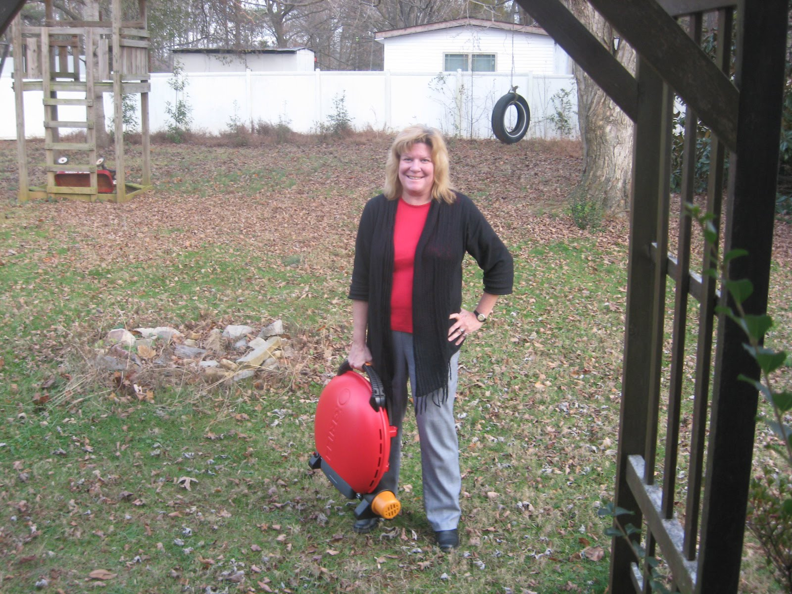 Cyndi With Compact Q Grill   Gas Model Itu0027s Hard To Get A Feel For The Size  From Basic Model Photos, So Here You Can See Me Carrying The O Grill 3000.