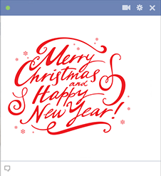 Christmas and New Year emoticon