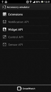 "Enable options based on application, Select ""Widget API"""