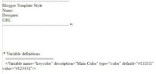 Bild: Ausschnitt des Html Codes einer Blogger Vorlage, bei der die Navbar aktiv ist.