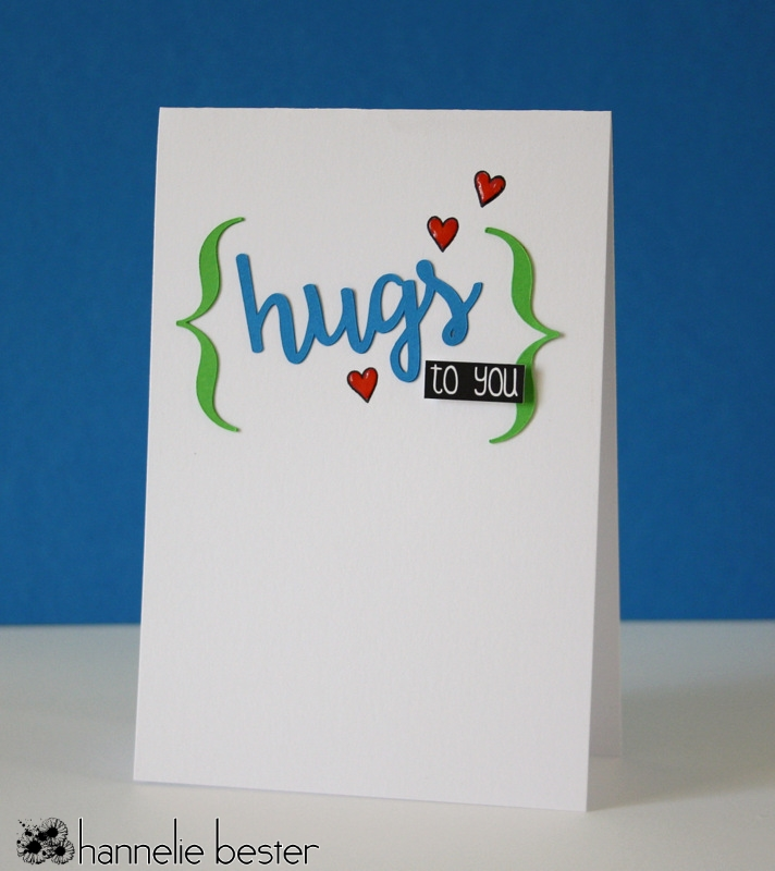 hugs to you card