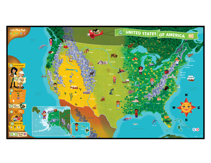 Leap Frog USA Map Tag Reader Game