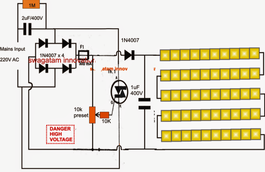 led light driver circuit diagram the wiring diagram 5630 smd led driver tube light circuit circuit diagram