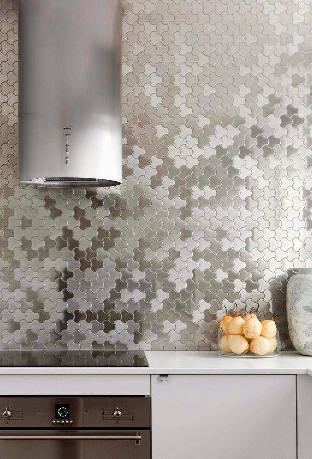 post the honeycomb tile backsplash adds beauty to any kitchen design