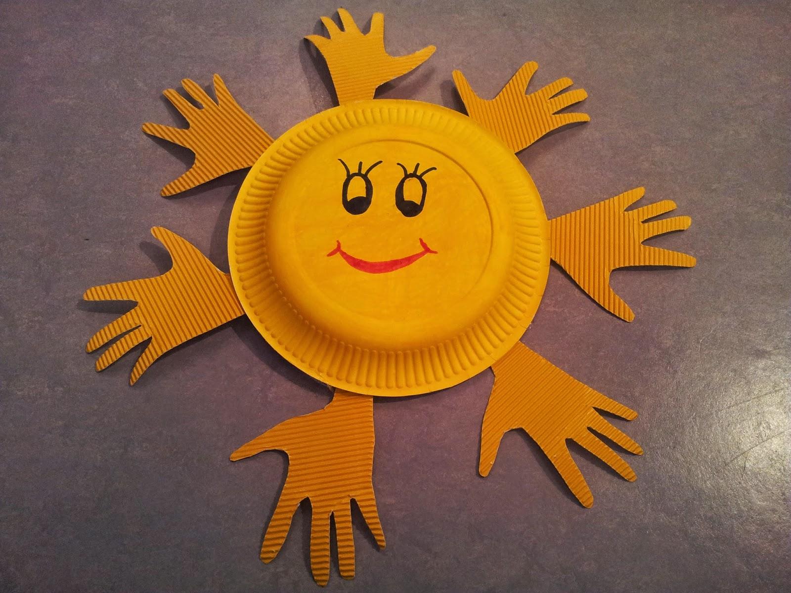 Поделки солнце в руках 962