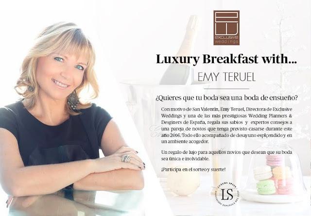 Sorteo de un Luxury Breakfast con Emy Teruel