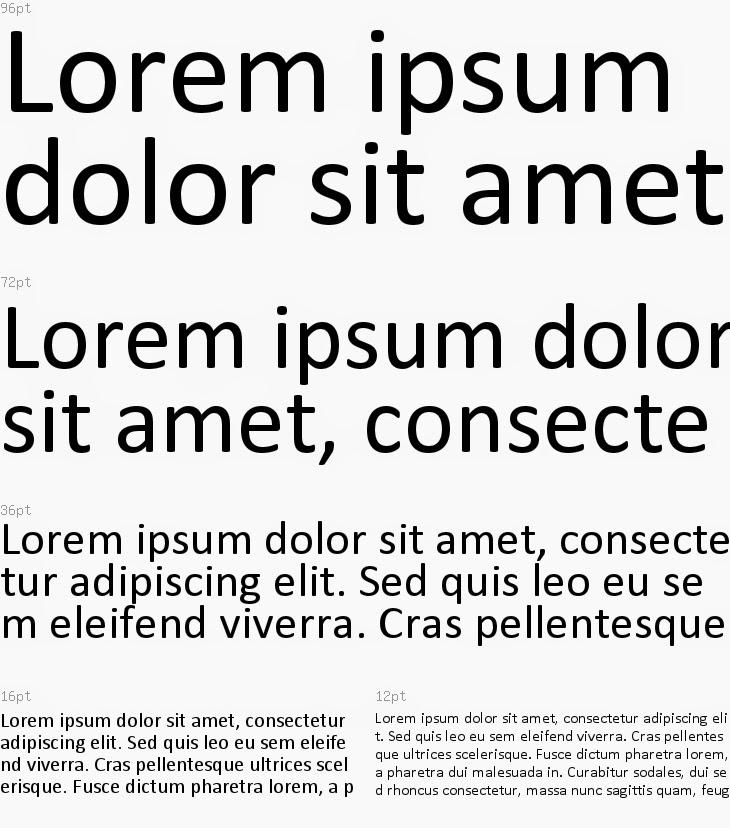 sample of Callibri Regular font used for a black coverage test