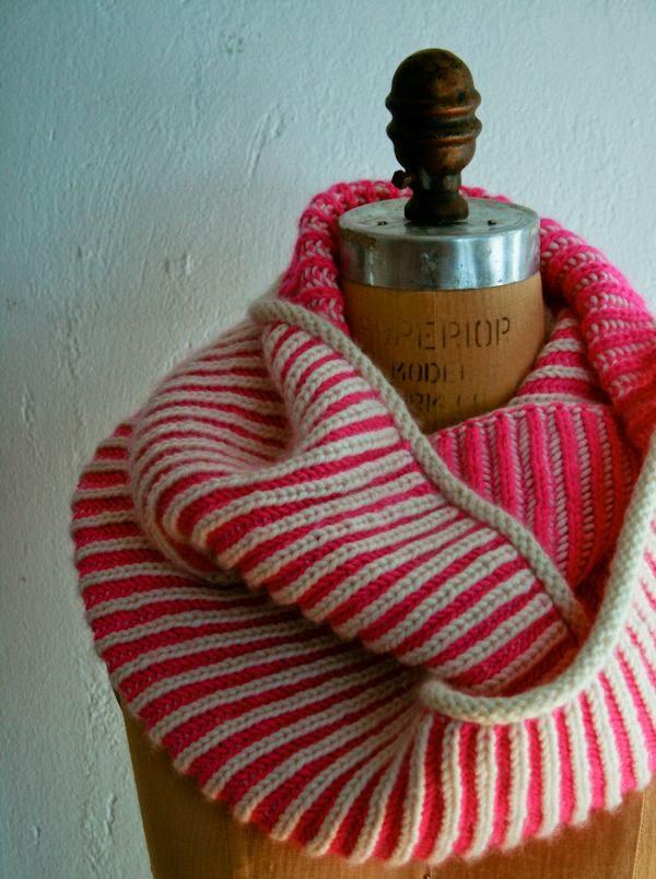 snood-rayures-ginas brioche-tricot-gratuit