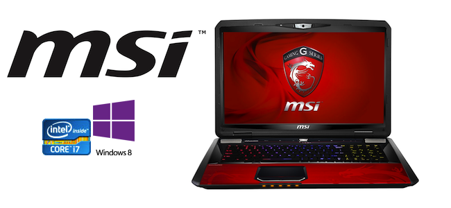 MSI GT70 Limited Dragon Edition Gaming laptop runing on Windows 8