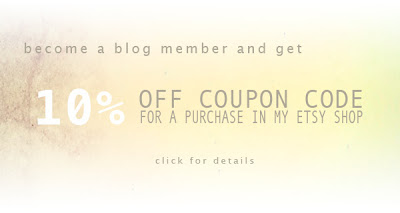 10% off coupon code from my etsy shop Colyfoli